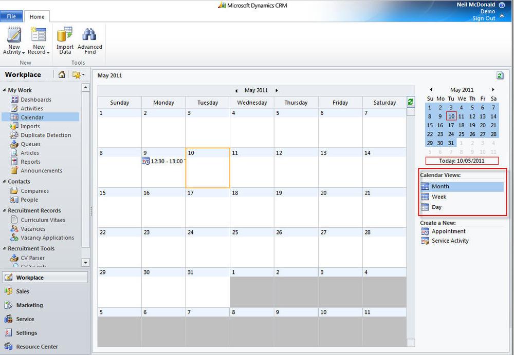 Add a CRM Calendar to a dashboard | Neil McDonald's Dynamics